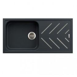 Carysil Kitchen Sink New Beethoven D100L-Steel Inlays