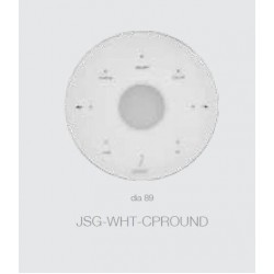 Jaquar Round White Control Panel Ea For Steam Generator  JSG-WHT-CPROUND