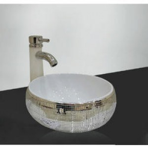 TOYO Ceramic Art basin  536 Silver
