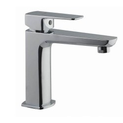 Jaquar Kubix Prime Chrome Single Lever Basin Mixer with 450mm Braided Hose, KUP-CHR-35011BPM