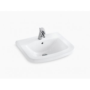 KOHLER K-17156X-0 Panache Bathroom Wash Basin with Single Faucet Hole in white