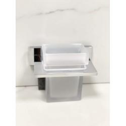 KOHLER Complementary Square Tumbler Holder (Chrome Finish) K-25074IN-CP