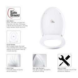 KOHLER Patio/Atila 10614IN-0 Quiet-Close Toilet Seat And Cover