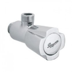 Parryware Diamond Silver Brass Angle Valve with Wall Flange   G1853A1