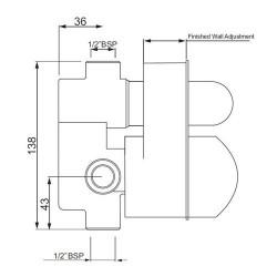 Jaquar Single Lever High Flow Diverter Without Exposed Part-079   ALD-CHR-079