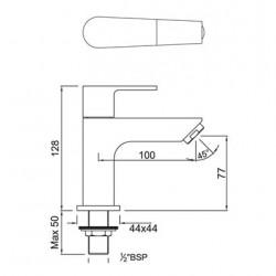 Jaquar Aria Chrome Pillar Cock, ARI-CHR-39011