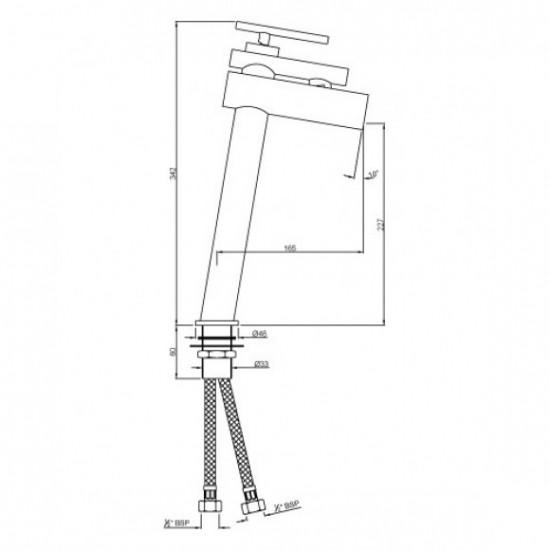 Artize Basin Mixer Confluence CNF-CHR-69009B