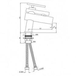 Artize Basin Mixer Confluence CNF-CHR-CNF-69011B