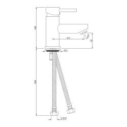 Jaquar Basin Mixer Florentine FLR-CHR-5001B