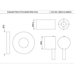 Jaquar Exposed Part Kit of Concealed Stop Cock     FLR-CHR-5083NK