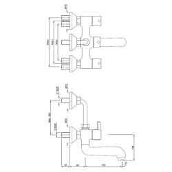 Jaquar florentine wall mixer 2 in 1(Chorme)  FLR-CHR-5273UPR