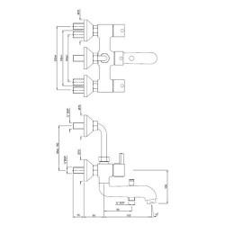 JAQUAR Wall Mixer 3 in 1 System - Florentine (FLR 5281)