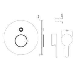 Jaquar Fusion Brass Single Lever Exposed Parts Kit (Chrome)  FUS-CHR-29079K