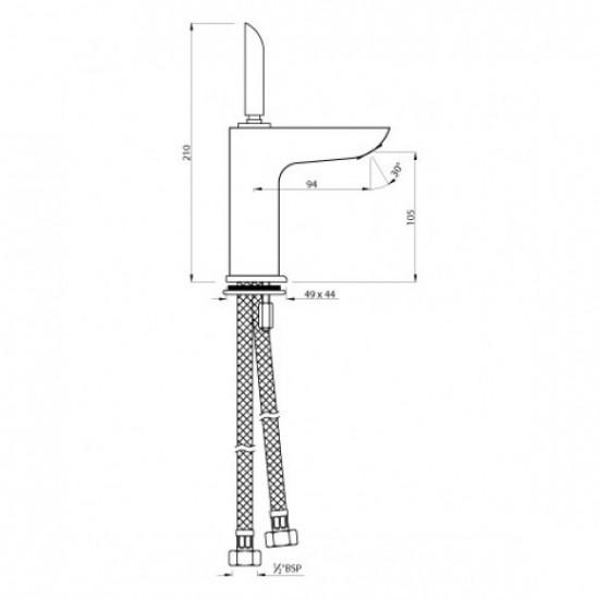 Artize Lexa Joystick Basin Mixer  LEX-CHR-LEX-CHR-67011B