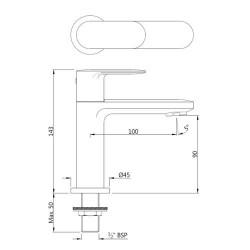 Jaquar Opal Prime Brass Single Lever Basin Mixer (Chrome Finish)   OPP-CHR-15001PM
