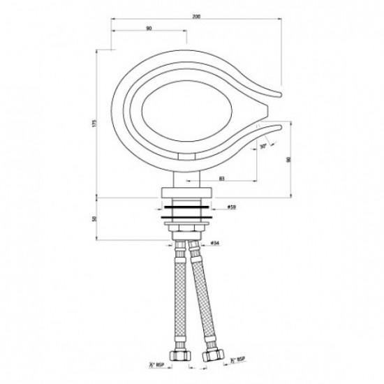 Artize Basin Mixer Tiaara TIA-CHR-TIA-CHR-73011B