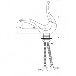 Artize Basin Mixer Tailwater TWR-CHR-TWR-CHR-75011B