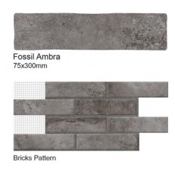 Fossil Ambra Wall Tiles 75 x 300mm