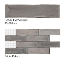Fossil Cementum Wall Tiles 75x300mm