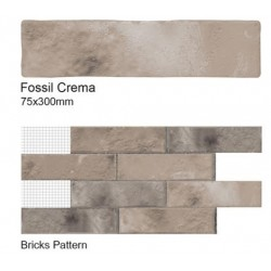 Fossil Cerma Wall tiles 75x300mm