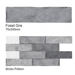 Fossil Gris Wall Tiles 75x300mm