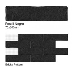 Fossil Blanco Wall Tiles 75x300mm