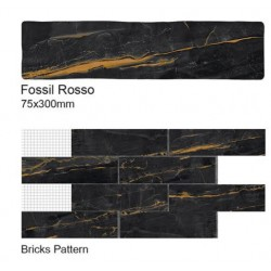 Fossil Rosso Wall Tiles 75x300mm