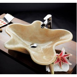 Aquant Honey onyx stone wash basin-Freya9011